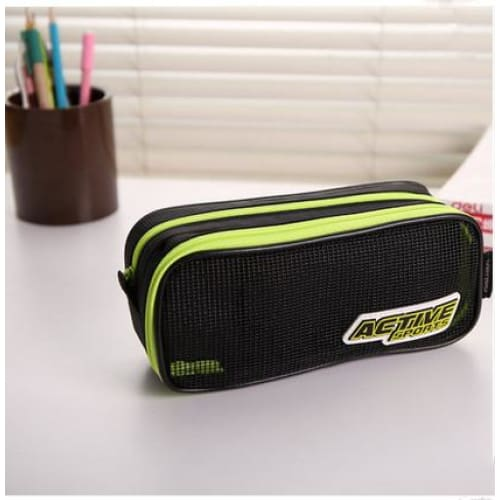 Large Pencil Case-2 layer - Green - pencil case