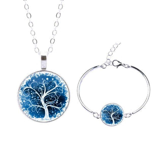 Life Tree Christmas Gift - Set0062 - Jewelry Set