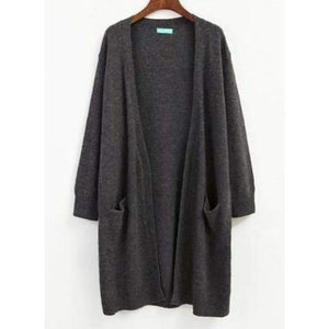 Loose Long Cardigan - Gray / One Size - Cardigan
