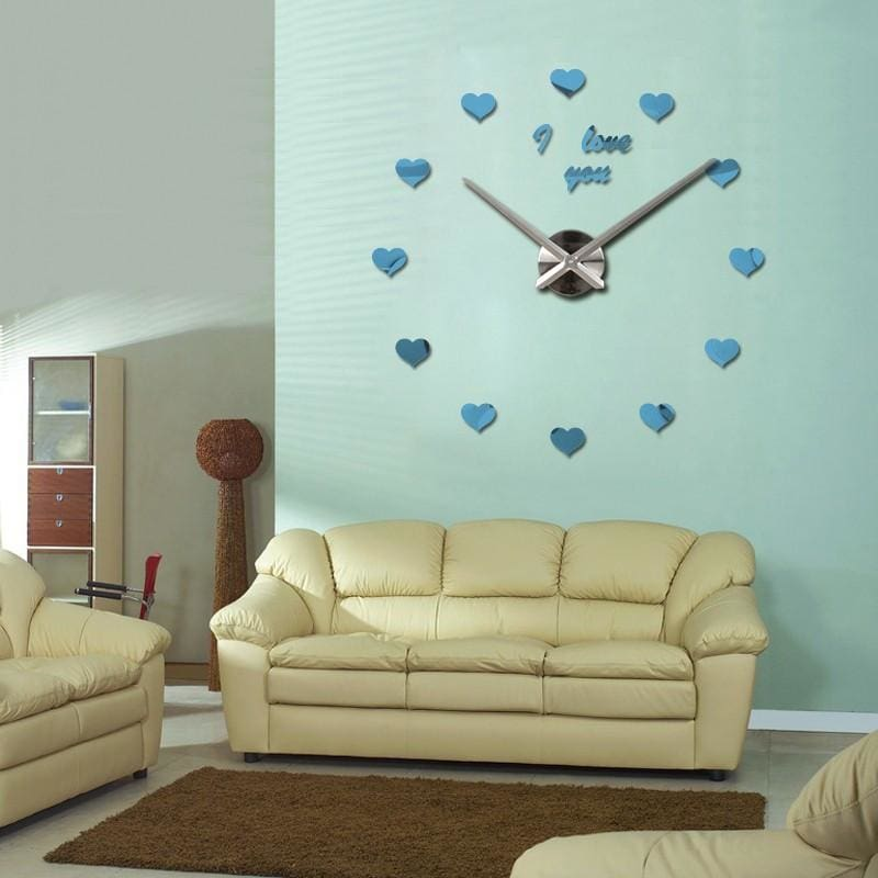 Tac City Goods Co. - Love and Hearts Mirrored Wall Clock