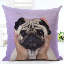 Load image into Gallery viewer, Lovely Silent Pug Dog Pillow Cover - 450mm*450mm / 2433b - pillow case