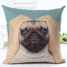 Load image into Gallery viewer, Lovely Silent Pug Dog Pillow Cover - 450mm*450mm / 2433c - pillow case