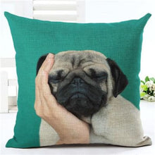 Load image into Gallery viewer, Lovely Silent Pug Dog Pillow Cover - 450mm*450mm / 2433e - pillow case
