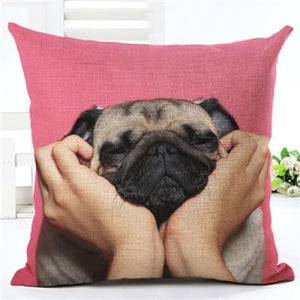 Lovely Silent Pug Dog Pillow Cover - 450mm*450mm / 2433f - pillow case