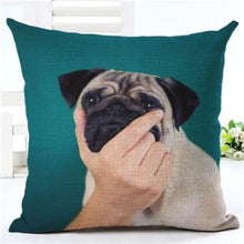 Load image into Gallery viewer, Lovely Silent Pug Dog Pillow Cover - 450mm*450mm / 2433h - pillow case