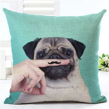 Load image into Gallery viewer, Lovely Silent Pug Dog Pillow Cover - 450mm*450mm / 2433j - pillow case
