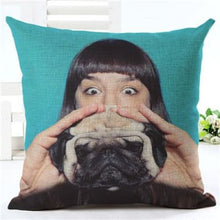 Load image into Gallery viewer, Lovely Silent Pug Dog Pillow Cover - 450mm*450mm / 2433k - pillow case
