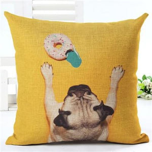 Lovely Silent Pug Dog Pillow Cover - 450mm*450mm / 2433l - pillow case