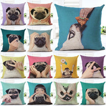 Load image into Gallery viewer, Lovely Silent Pug Dog Pillow Cover - pillow case