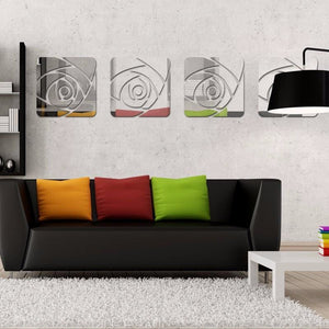 Mirrored Rose Wall Decoration - Wall Art
