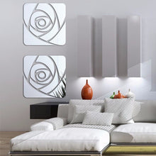 Load image into Gallery viewer, Mirrored Rose Wall Decoration - Wall Art