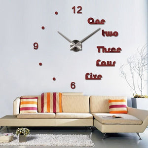 Modern Design Wall Clock Sticker - Wall Clock