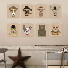 Load image into Gallery viewer, Modern Handpainted Canine Canvas Portraits - Home Decor
