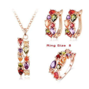 Multicolor Cubic Zircon Jewelry Sets - 8 - Jewelry Set