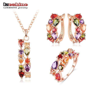 Multicolor Cubic Zircon Jewelry Sets - Jewelry Set