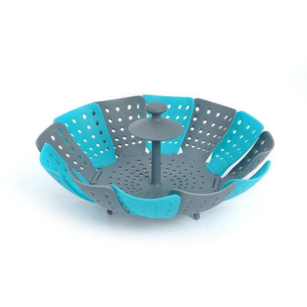 Multifunction Silicone Folding Vegetable Steamer Basket/Fruit Basket - Kitchen Gadgets