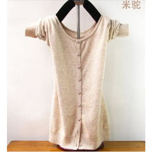 Load image into Gallery viewer, New Style Cashmere Sweater - M Camel / S - Cardigan