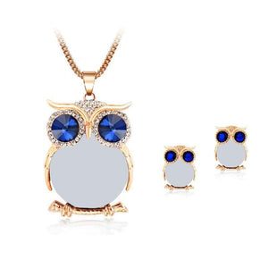 Owl Jewelry Set - Gold White - Jewelry Set