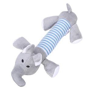 Plush Puppy Squeaker Duck Pig & Elephant Chew Toys - Other Pet Supplies