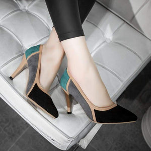 Pointed Toe Thin High Heels Shoes - Black / 4.5 - Shoes