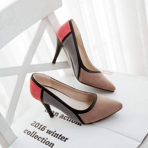 Pointed Toe Thin High Heels Shoes - Pink / 4.5 - Shoes