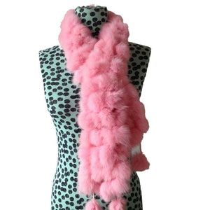 Rabbit Faux Fur Ball Shawl - C - Shawls
