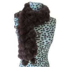 Load image into Gallery viewer, Rabbit Faux Fur Ball Shawl - D - Shawls