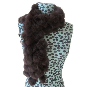 Rabbit Faux Fur Ball Shawl - D - Shawls