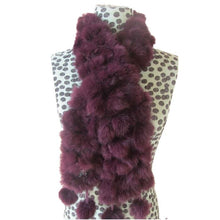 Load image into Gallery viewer, Rabbit Faux Fur Ball Shawl - E - Shawls
