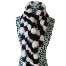 Load image into Gallery viewer, Rabbit Faux Fur Ball Shawl - H - Shawls