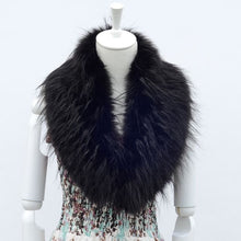 Load image into Gallery viewer, Raccoon Faux Fur Shawl - black 2 - Shawls