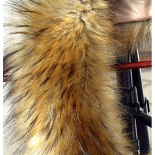 Load image into Gallery viewer, Raccoon Faux Fur Shawl - brown - Shawls