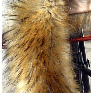 Raccoon Faux Fur Shawl - brown - Shawls