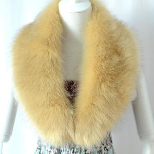 Raccoon Faux Fur Shawl - Orange - Shawls
