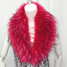 Load image into Gallery viewer, Raccoon Faux Fur Shawl - Red - Shawls