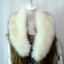 Load image into Gallery viewer, Raccoon Faux Fur Shawl - Silver - Shawls