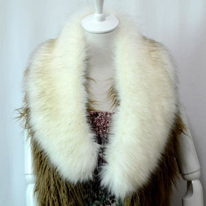 Raccoon Faux Fur Shawl - Silver - Shawls