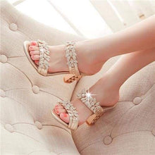 Load image into Gallery viewer, Rhinestone Ladies Sandals - Sandals
