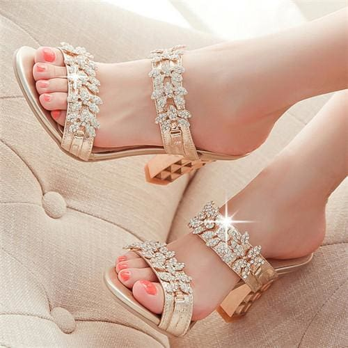 Rhinestone Ladies Sandals - Sandals