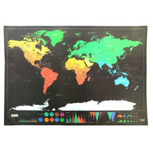 Load image into Gallery viewer, Scratch Off World Map Travel Tracker - black / 423x300mm - Wall Art