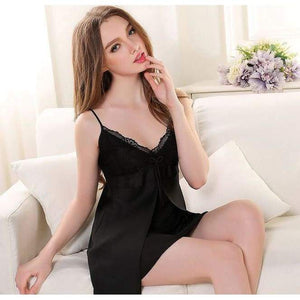 Sexy Lace Nightgown - Black / M - Nightgown