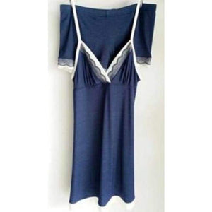 Shirt Night Gown - Navy Blue / S - Nightgown