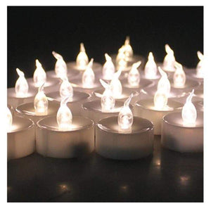 Small Plastic Flameless Candle-24Pcs - Electric Candles