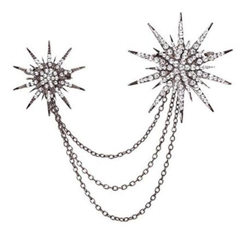 Snow Star Alloy Brooch - Jewelry