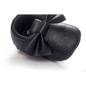 Soft Bottom Fashion Tassels Baby Moccasin - Black / 1 - Baby Clothing