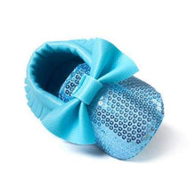 Load image into Gallery viewer, Soft Bottom Fashion Tassels Baby Moccasin - Bling Blue / 1 - Baby Clothing