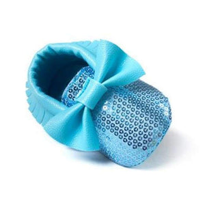 Soft Bottom Fashion Tassels Baby Moccasin - Bling Blue / 1 - Baby Clothing