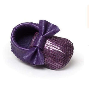Soft Bottom Fashion Tassels Baby Moccasin - Bling Purple / 1 - Baby Clothing