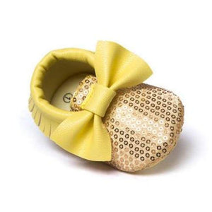 Soft Bottom Fashion Tassels Baby Moccasin - Bling Yellow / 1 - Baby Clothing