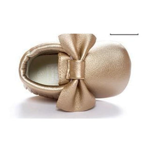 Soft Bottom Fashion Tassels Baby Moccasin - Gold / 1 - Baby Clothing